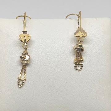 18KT gold heart shape latkan earring dj-e020