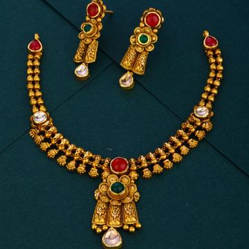 916 party wear gold Antique necklace set