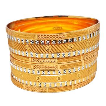 One gram gold forming 6 piece set bangles mga - bg...
