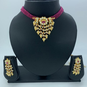 artificial wedding wear necklace set  by
