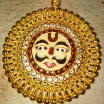 22KT Gold Meenakari Surya Pendant