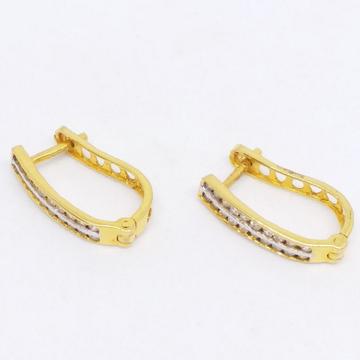 18 kt 750 gold daimond earring type j style double... by Zaverat