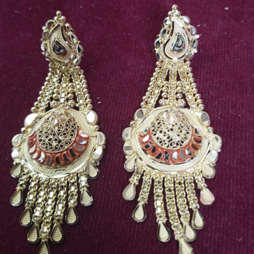916 Gold Hallmark Delightful Earring  by Samanta Alok Nepal