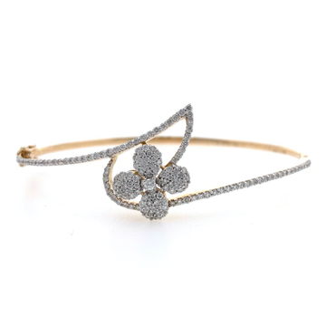 18kt / 750 yellow gold floral diamond bracelet 8brc35