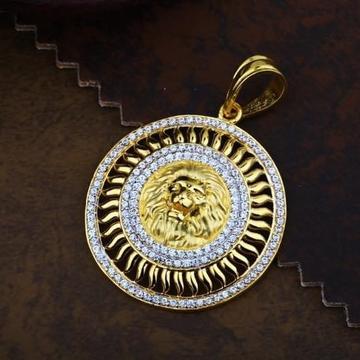 916 Gold Lion CZ Chain Pendal RH-CH44