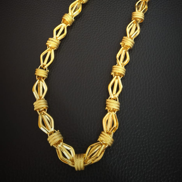 22k Hallmark Indo lotast Unique Design Chain by Pratima Jewellers