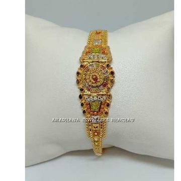 916 Gold Red Stone Ladies Bracelet