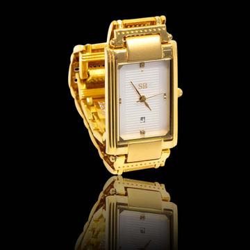 22KT Gold Designer Watch For Men by S B ZAWERI