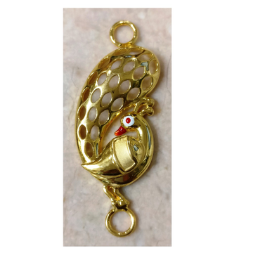 22kt gold plain casting chain side peacock pendant(moguppu) for women