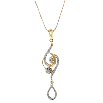 Nueva diamond pendant in yellow gold 6shp11