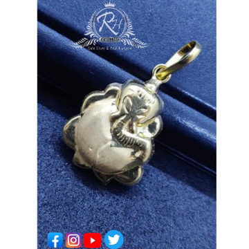 silver ganesh pendants RH-PN372