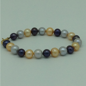 Multi Colour Round Pearls 1 Layer Bracelet JBG0162