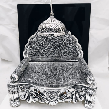 92.5 pure silver antique Solid singhasan In Fine N...