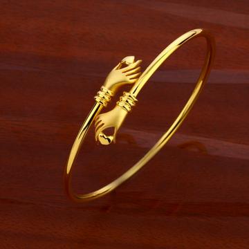 18CT CZ Women's Hallmark  Kada Bracelet LKB178