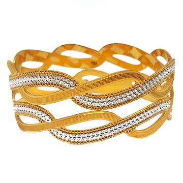 One gram gold plated 2 piece bangles mga - bge0324
