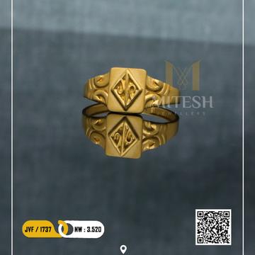 22k/916 CZ GOLD MEN RING