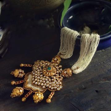 22kt 91.6 jaisalmeri bridal necklace by