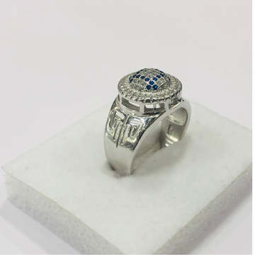 925 silver ring with blue square of diamond ring for men