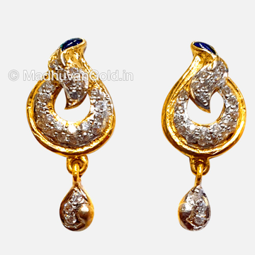 22K Gold Antique Diamond Earrings