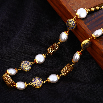 916 Gold Hallmark Gorgeous Antique Chain Mala AC19...