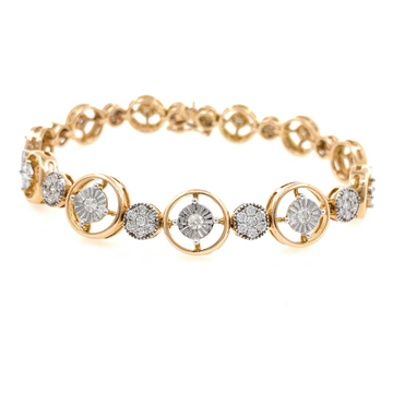 Petite Diamond Tennis Bracelet in Rose Gold 9BRC20
