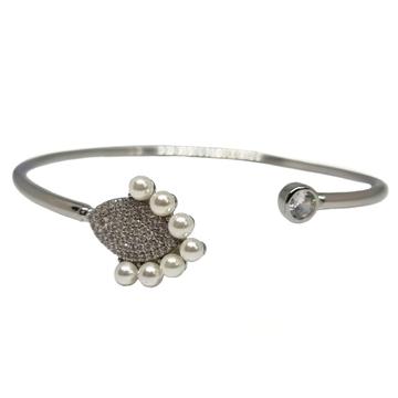 925 Sterling Silver Pearl Modern Bracelet MGA - BR...