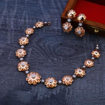 18CT Rose Gold Cz Gorgeous Necklace Set RN93