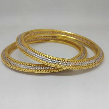 22 KT GOLD FANCY DESIGNED COPPER BANGLE