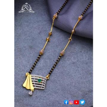 22 carat gold fancy ladies mangalsutra RH-MN580