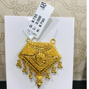 22 carat gold antique mangalsutra RH-MN784