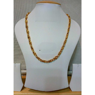 22k Gents Fancy Gold Lotus Chain G-6416