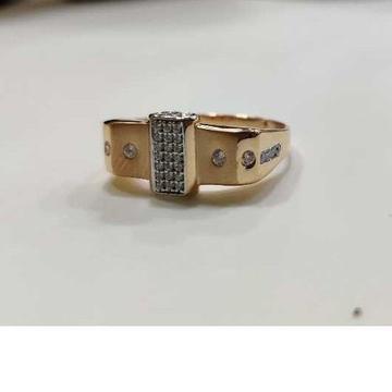 18k gents fancy rose gold ring gr-31326