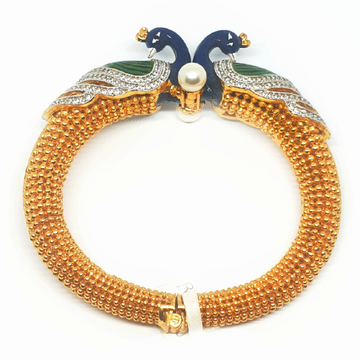 Micro gold forming peacock bracelet mga - c375