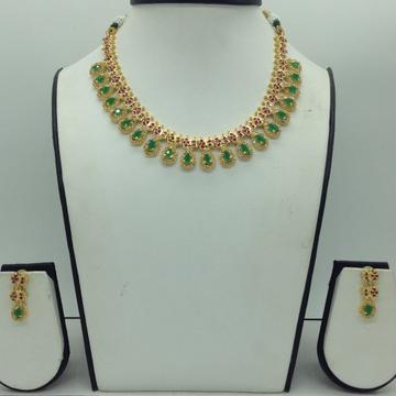 MulticolourCZ Stones Necklace Set JNC0173