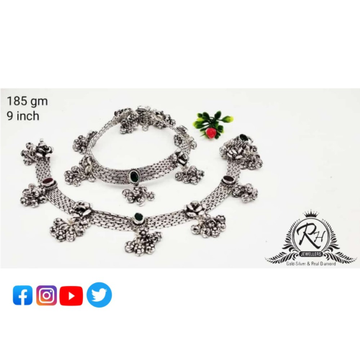 silver antique anklets payal RH-AP704