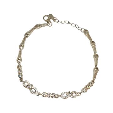 925 Sterling Silver Designer Bracelet MGA - BRS1765
