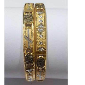 916 Gold Fancy Handmade Designer Copper Kada by