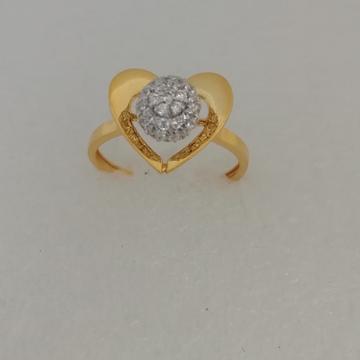 916 gold heart shape ladies ring by Vinayak Gold