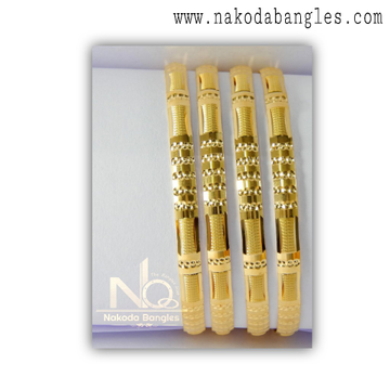916 Gold Patra Bangles NB - 1370