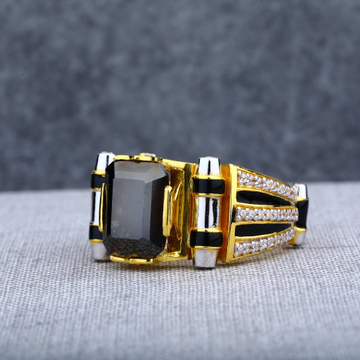 Mens Solitaire Gold Ring-MSR67