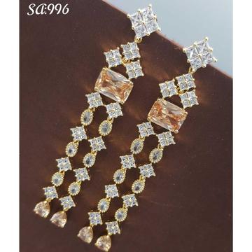 Beautiful Long Diamond Earrings#551