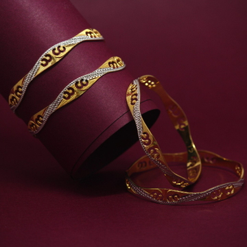 916 Hallmarked Classic 4 Bangles Set by Simandhar Jewellers