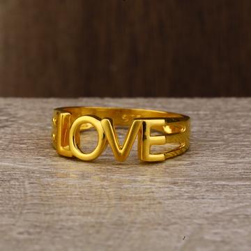 Ladies 22K Gold Fancy Plain Ring -LPR117
