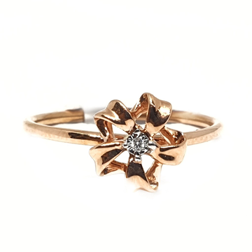 18k rose gold real diamond ring mga - rdr0042