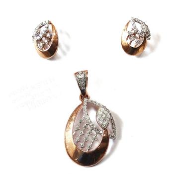 18k rose gold pendant set mga - rps008