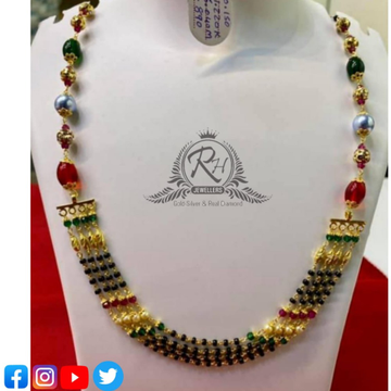 22 carat gold traditional mangalsutra RH-MN553