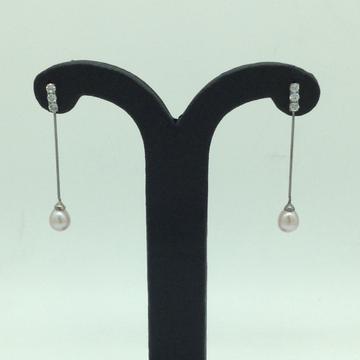 Pearl CZ SilverEar HangingsJER0157