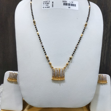 22KT/916 FANCY YAMINI MANGALSUTRA SET GMS-027