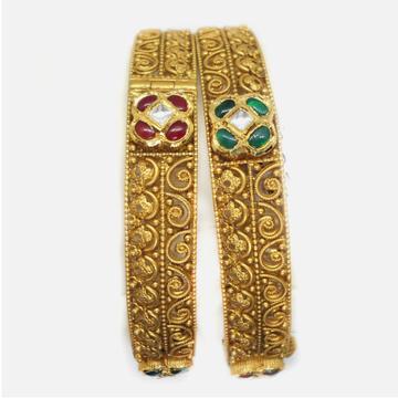 916 Gold Designer Jadtar Bangles RHJ-6017