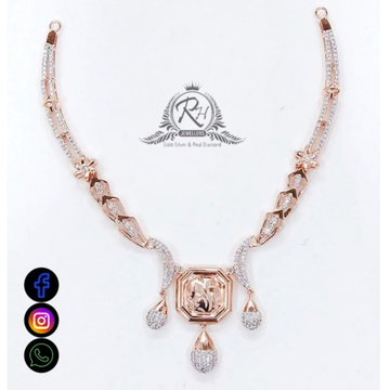 22 carat gold antique ladies necklace set RH-NS546